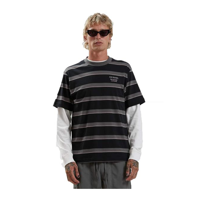 Afends Fight Stripe Retro Fit Tee
