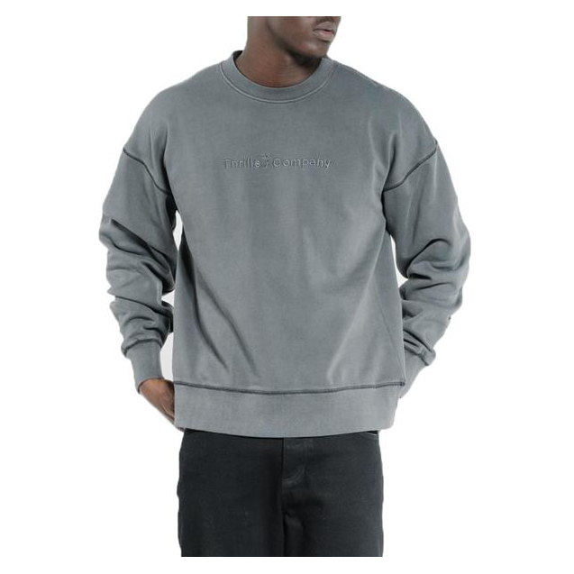 Thrills Tonal Embro Slouch Fit Crew
