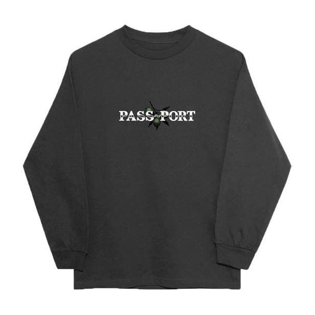 Passport Olive Puff Print L/S Tee