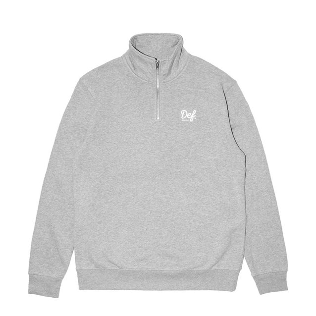 Def Signature EMB Quart Zip Sweater