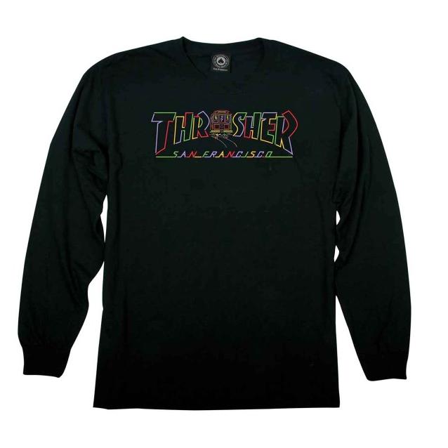 Thrasher Cable Car Long Sleeve T-Shirt