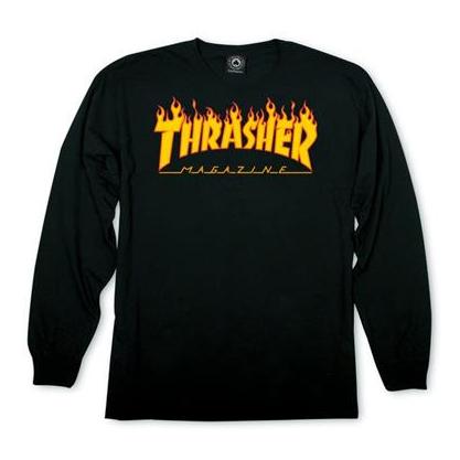 Thrasher Flame Logo Longsleeve Tee