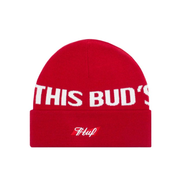 HUF x Budweiser This BUDS 4 U Beanie