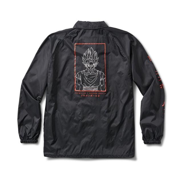 Primitive x DBZ Goku Saiyan Style Coach Jacket